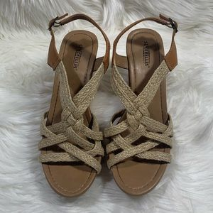 Seychelles Dogwood Cork Wedge Sandal 7.5